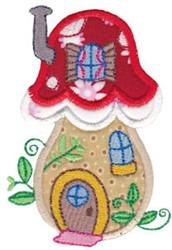 Applique Mushroom Home embroidery design