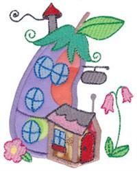 Applique Eggplant Home embroidery design