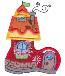 Applique Shoe Home embroidery design