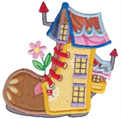 Applique Boot House embroidery design