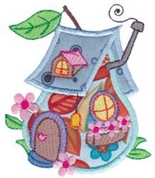 Applique House embroidery design