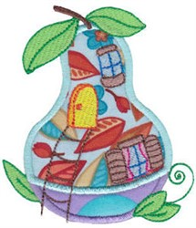 Applique Gourd House embroidery design