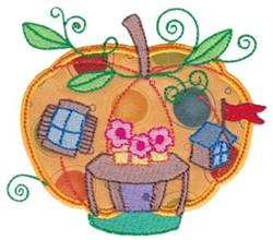Applique Pumpkin House embroidery design