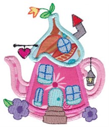Applique Kettle House embroidery design