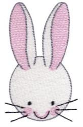 Bunny Head embroidery design