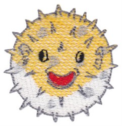 Puffer Fish embroidery design