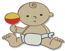 Baby & Rattle embroidery design