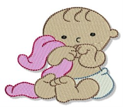 Baby & Blanket embroidery design