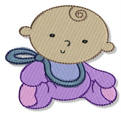 Baby In Bib embroidery design