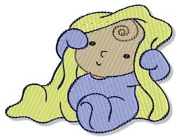 Baby With Blanket embroidery design
