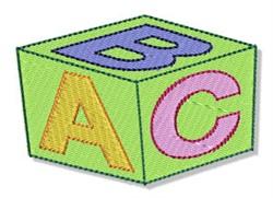 ABC Block embroidery design