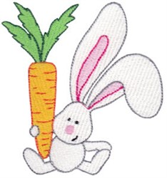 Bunny & Carrot embroidery design