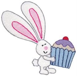 Cupcake Bunny embroidery design