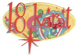 18 Karat Applique embroidery design