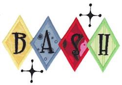 Bash Applique embroidery design