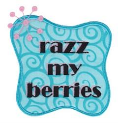Razz My Berries embroidery design