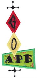 Go Ape embroidery design