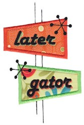 Later Gator embroidery design