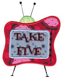 Take Five embroidery design