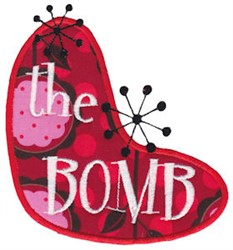 The Bomb embroidery design