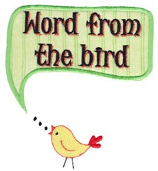 Word From The Bird embroidery design