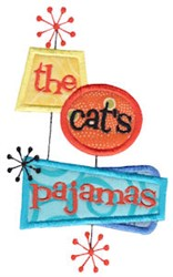 The Cats Pajamas embroidery design