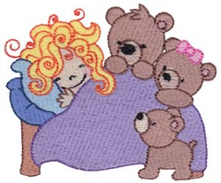 Goldilocks embroidery design