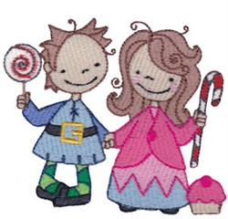 Hansel & Gretel embroidery design