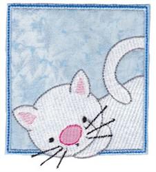 White Cat embroidery design