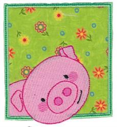 Piggy Pig embroidery design