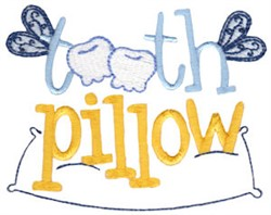 Tooth Pillow embroidery design