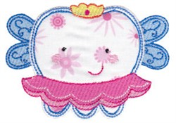 Girl Tooth Fairy embroidery design