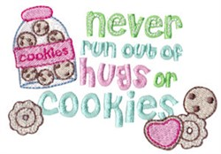 Hugs Or Cookies embroidery design