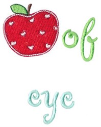 Apple Of Eye embroidery design