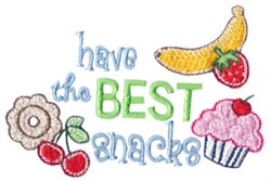 Best Snacks embroidery design