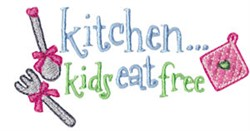 Kids Eat Free embroidery design