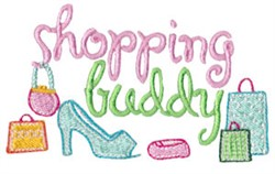 Shopping Buddy embroidery design