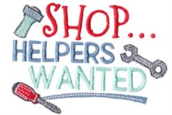 Shop Helpers embroidery design
