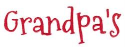 Grandpas embroidery design