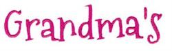 Grandmas embroidery design