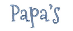 Papas embroidery design