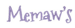 Memaws embroidery design