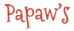 Papaws embroidery design
