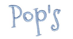 Pops embroidery design