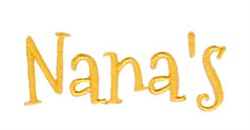 Nanas embroidery design