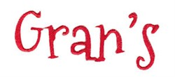 Grans embroidery design