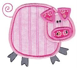 Little Farm Pig embroidery design