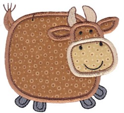 Little Farm Cow embroidery design