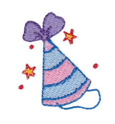 Birthday Party Hat Mini embroidery design