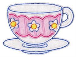 Time For Tea Applique embroidery design